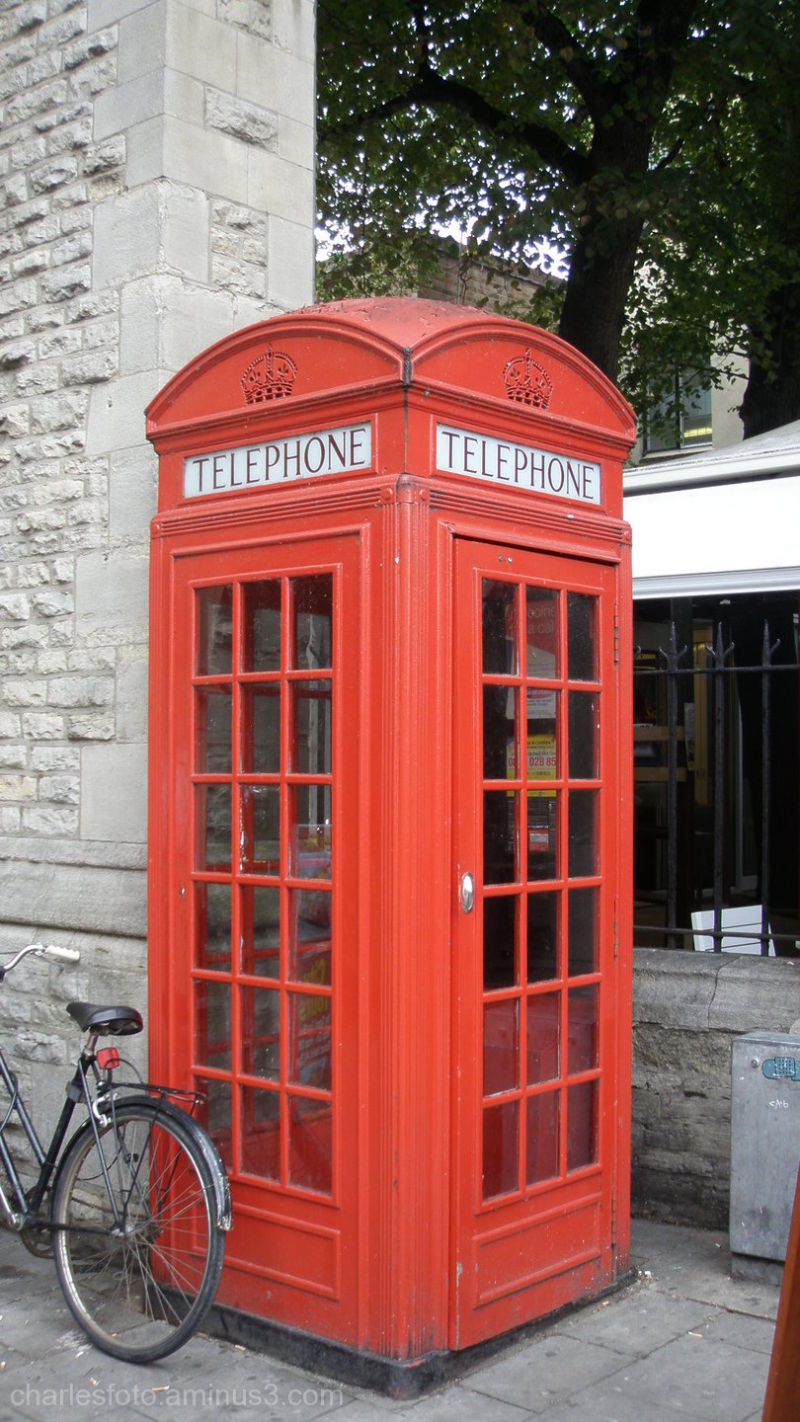 Telephone box, Oxford, England