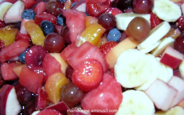 Salade de fruits, fruit salad