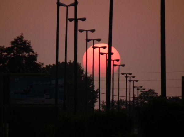 Sun set in Ramsar