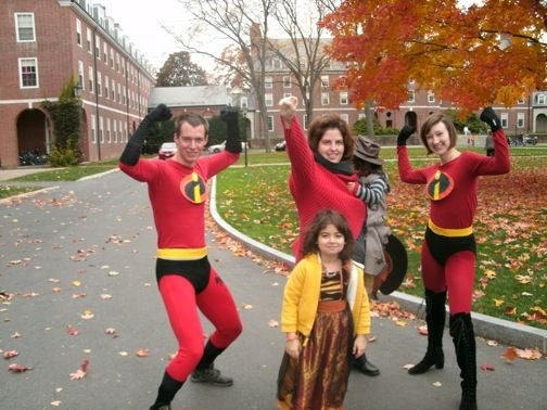 Super Heroes  and Little Witch...Halloween 2010