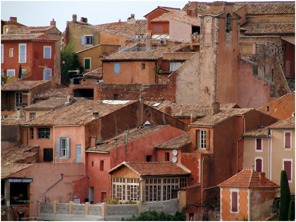 Town of Rousillon, Provence, France