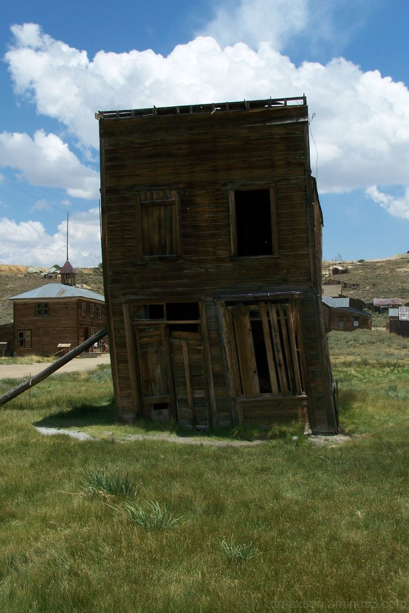 Leaning house in Bodie