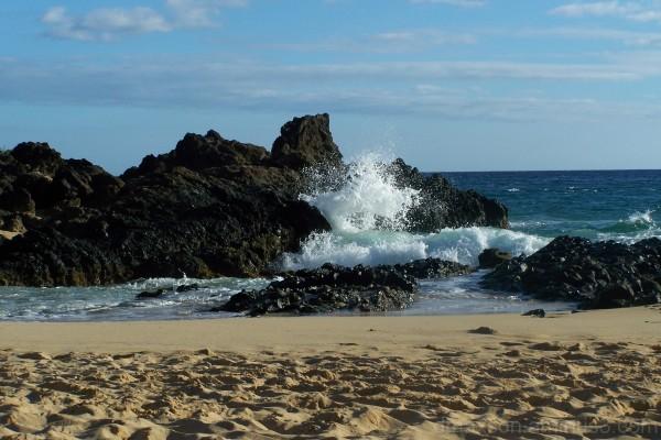 Waves crash