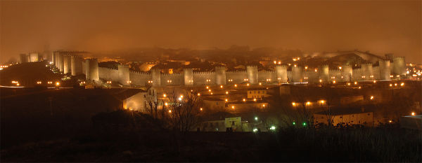 View of the medieval walled city of Avila, Spain