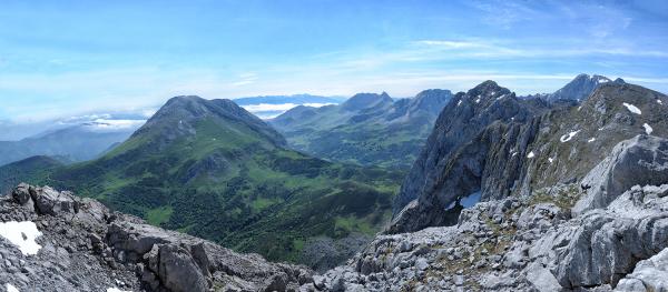 Dos vistas desde dos cumbres mellizas. 1