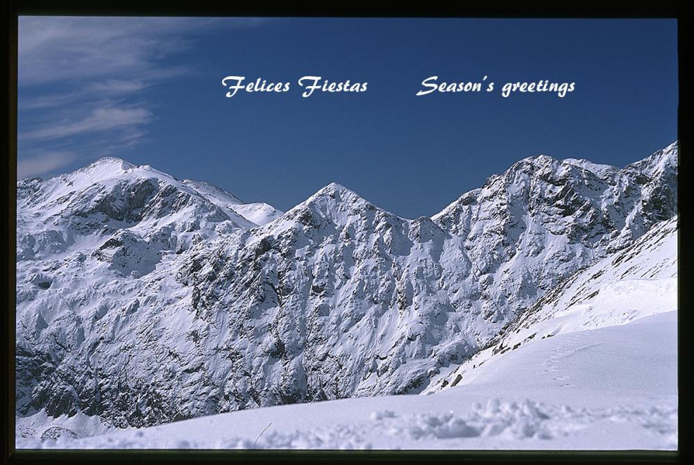 Felices Fiestas. Season's greetings.