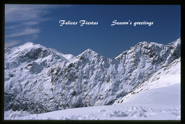 Felices Fiestas. Season's greetings.