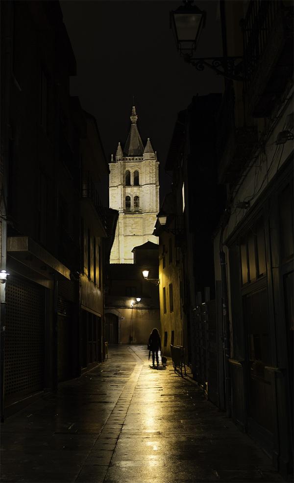 Paseo en la noche. Night walk.