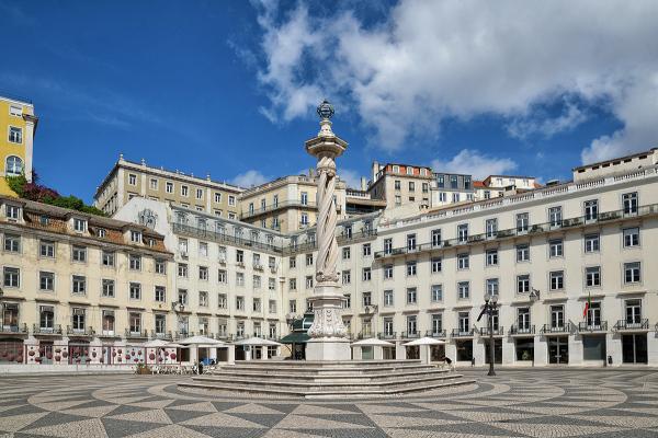 Plaza de Lisboa. Lisbon's square.