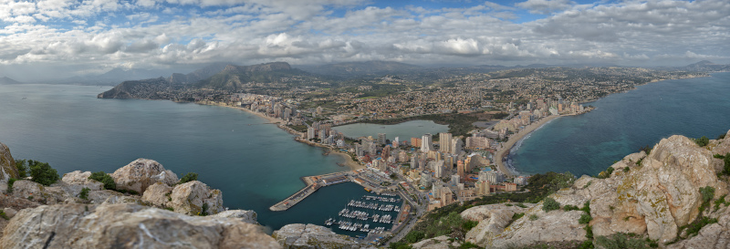 Calpe desde Ifach. Calpe from the Ifach Rock