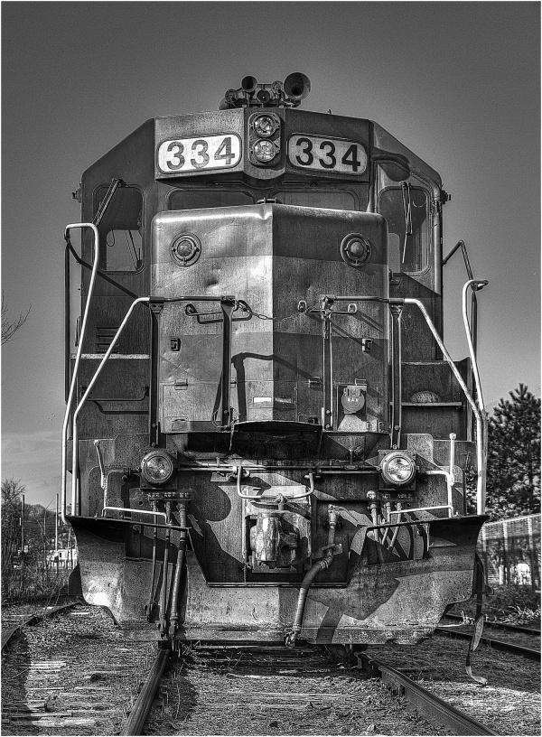 Diesel engine locomotive, B&W