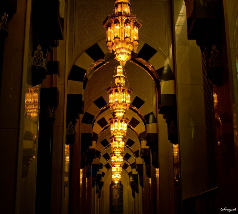 Lights @ SQ grand mosque