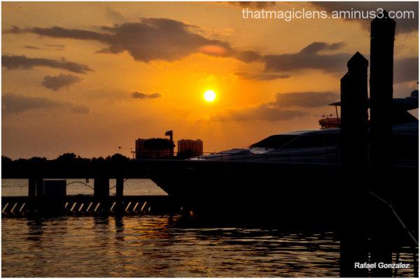 Tropical Sunset at the Marina