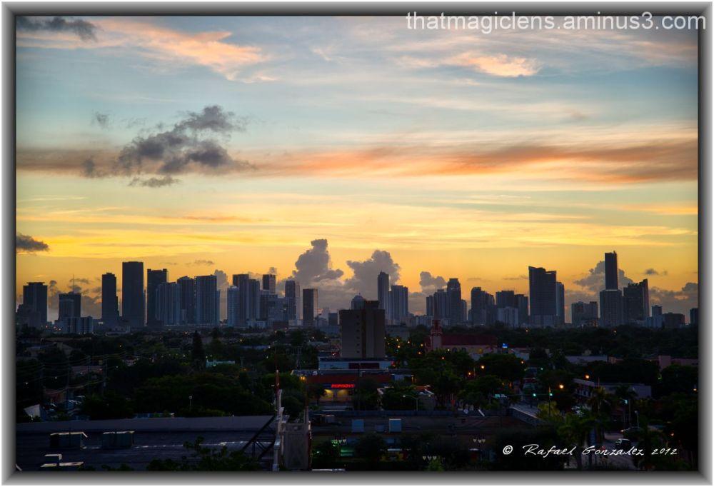 Miami Morning City View