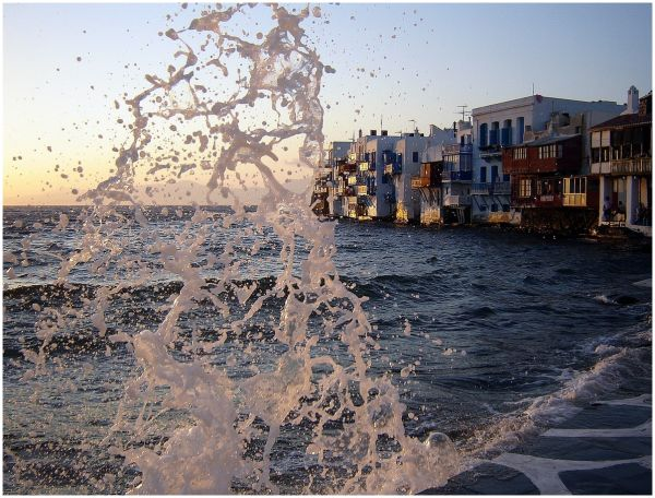"""Little Venice"" in Mykonos island, Grecce"