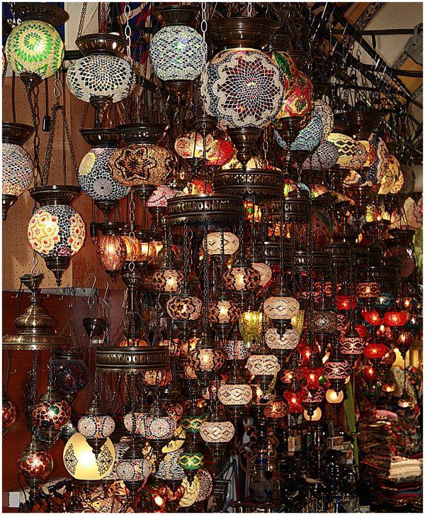 Turkish Lanterns in the Grand Bazaar, Turkey.