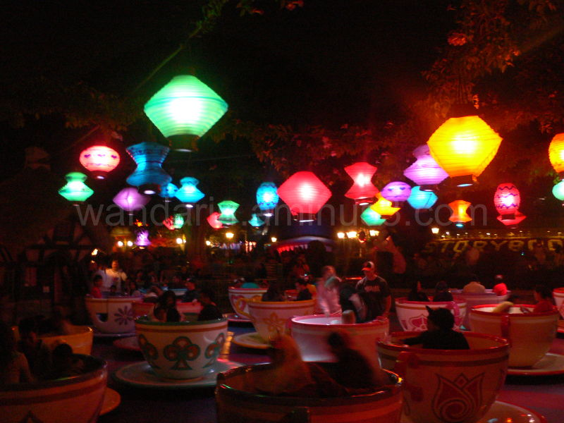 the spinning tea cups in disneyland