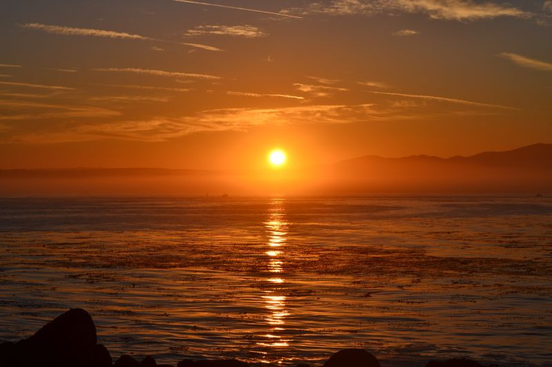 Sunrise over Monterey Bay