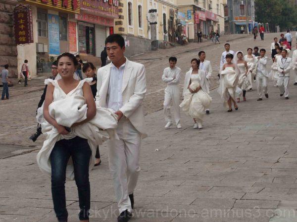 Wedding Dress & Jeans