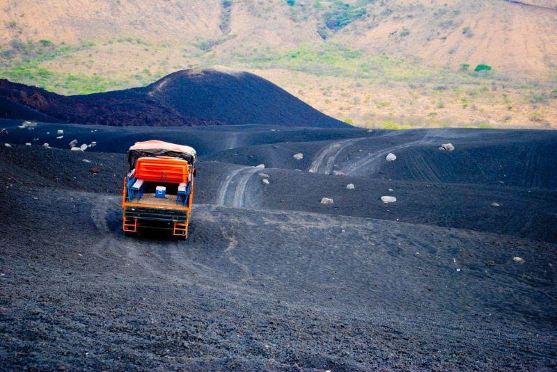 Leon, Nicaragua truck Cerro Negro