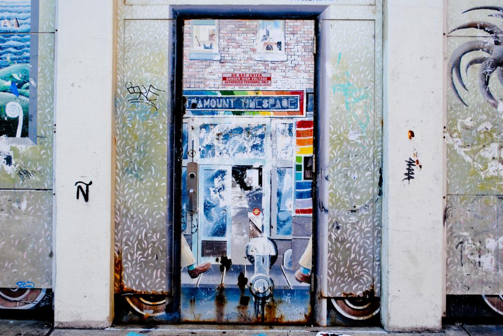 Door to street