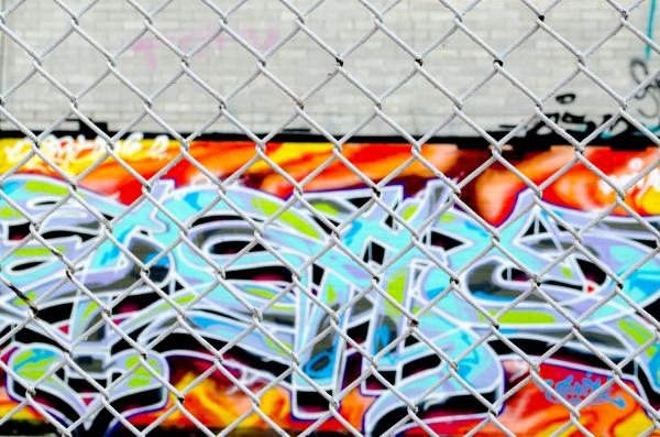 Fence between art