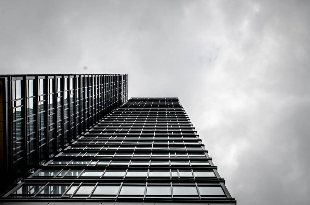 An upward view