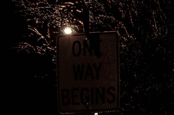 One way begins