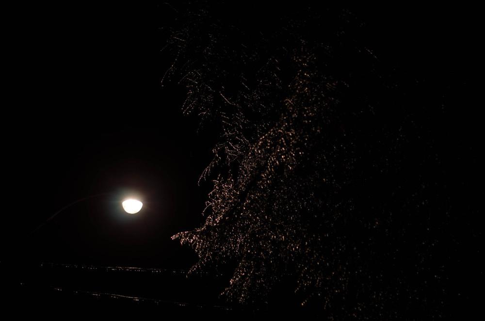 Ice at night