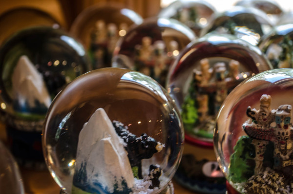 Rows of globes