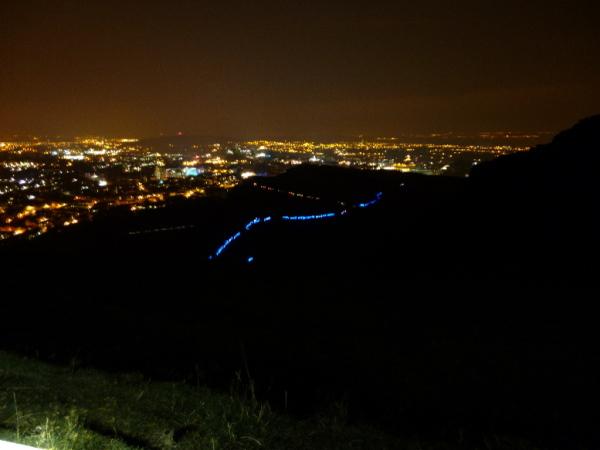 Edinburgh in the dark