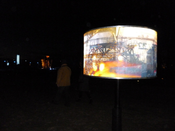 Lantern featuring industrial image