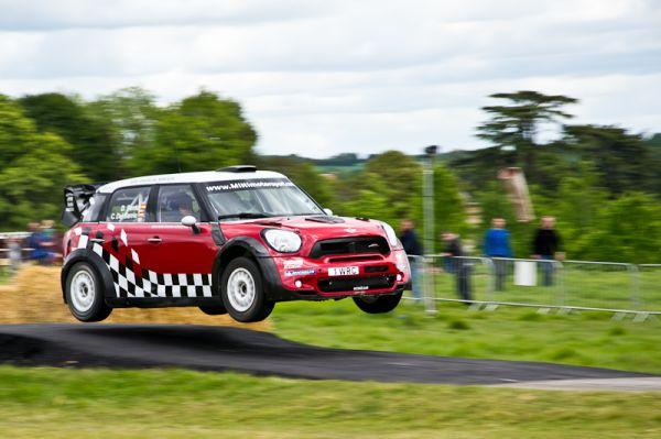 The Mini WRC at The Rally Show Cornbury 2011
