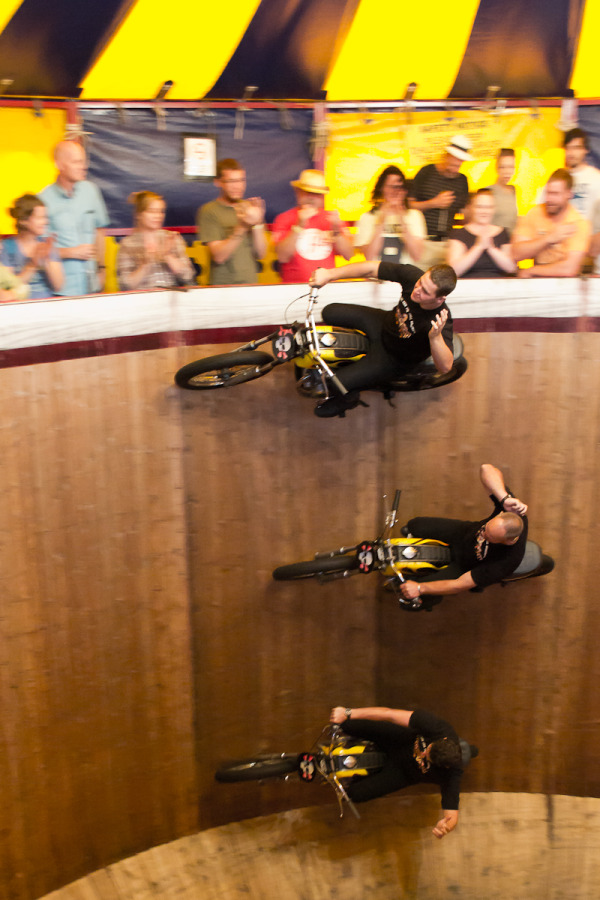 Wall of Death at the Great Dorst Steam F