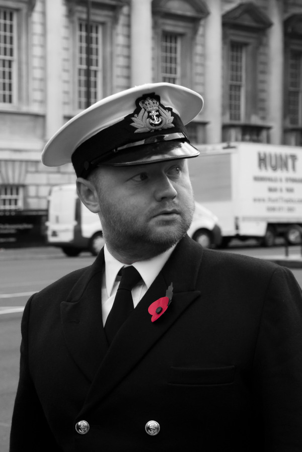 A portrait of a navy service man for remembrance