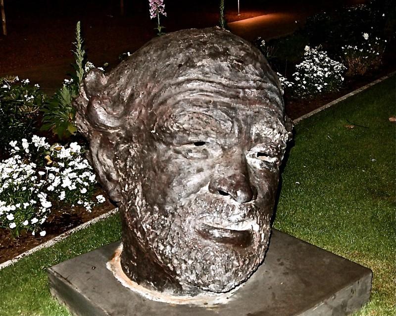 Sculpture of Head, Phoenix Art Museum