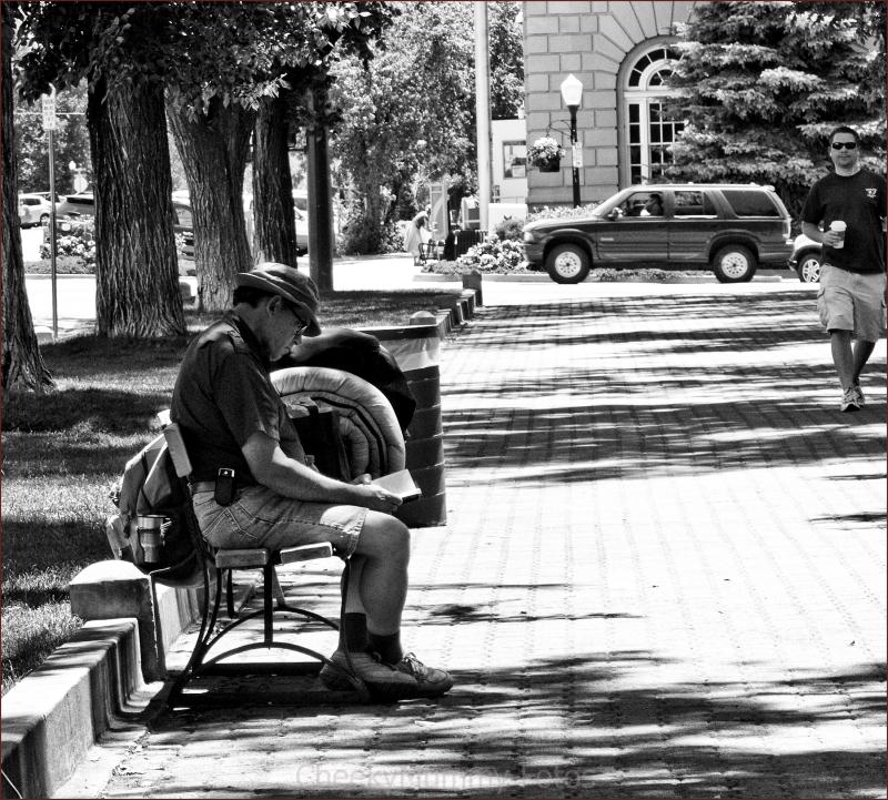 Resting at Prescott Square