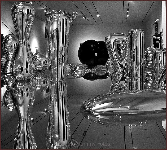 Glass sculpture exhibit at Phoenix Museum of Art
