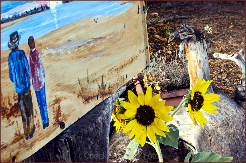Painted mailbox with sunflowers