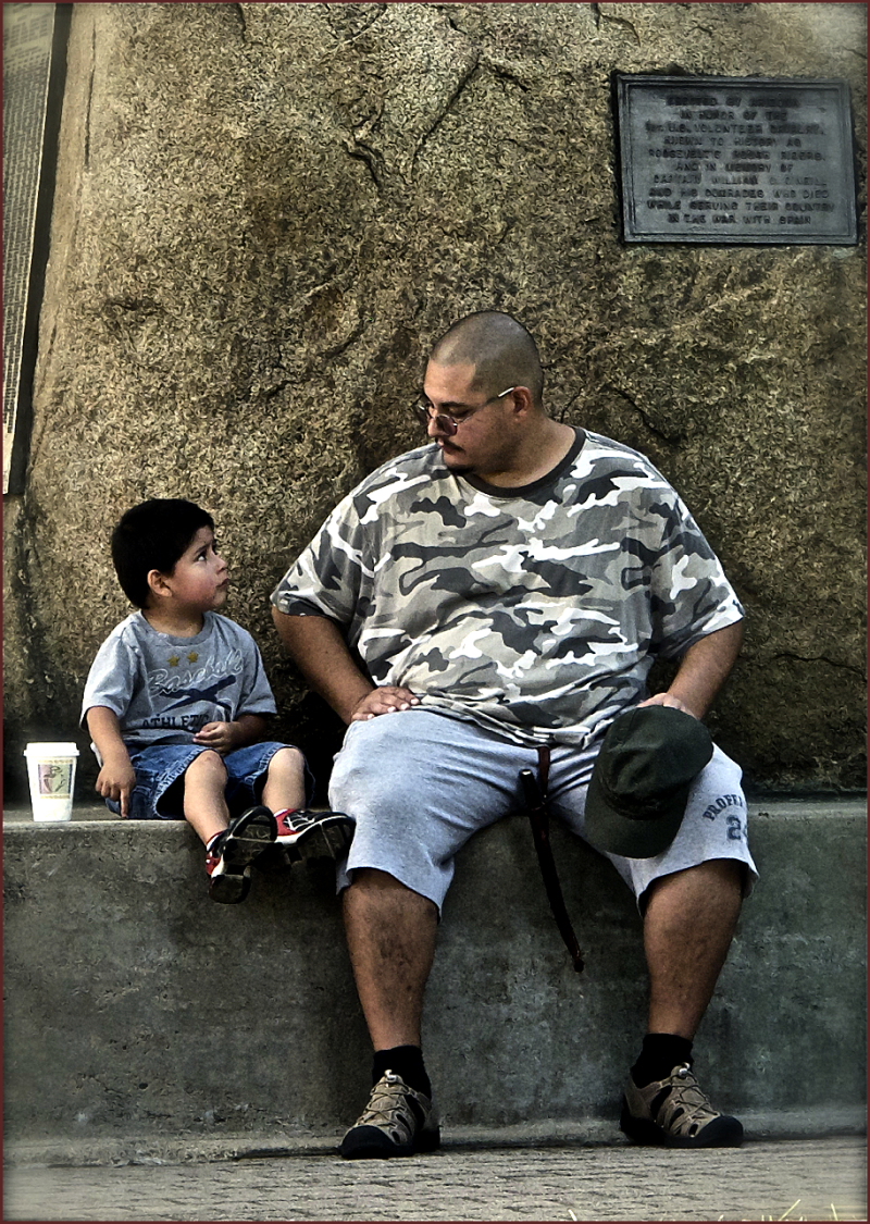Father & son talking man to man