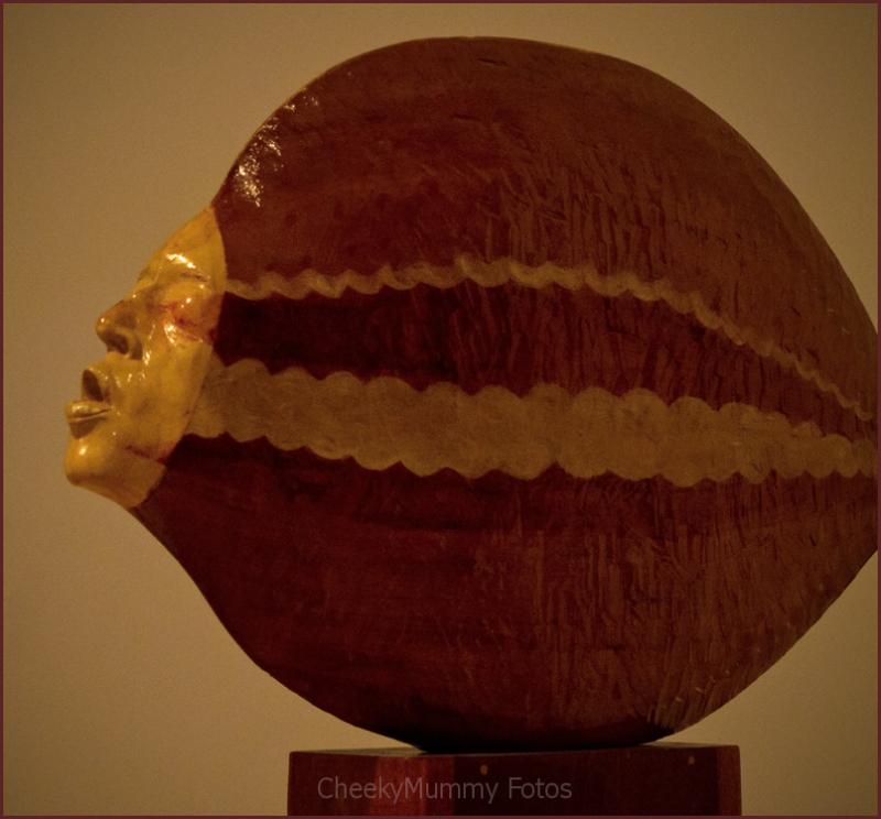 Wood sculpture in Phoenix Art Museum