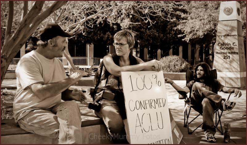 Occupy Wall Street/Phoenix Photographer listening