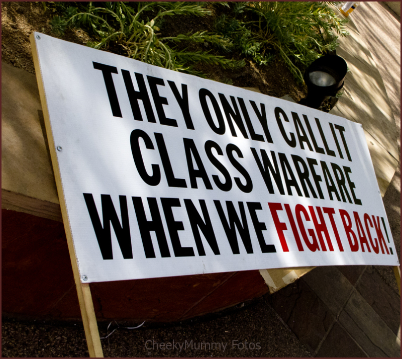 Occupy Wall Street/Phoenix Protester's sign