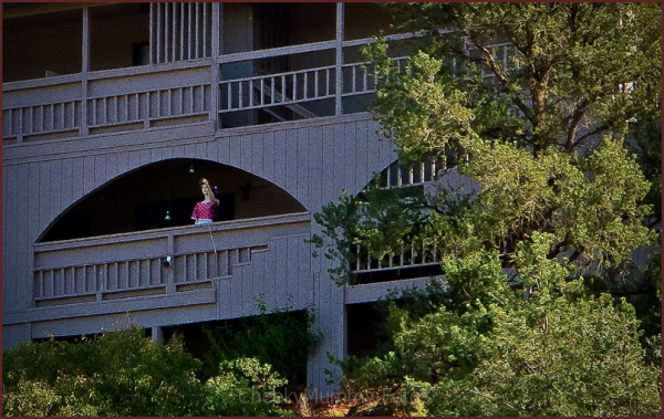 Mannequin on a balcony in Sedona