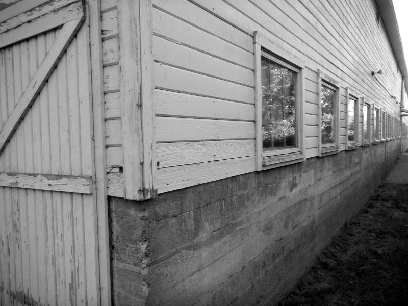 Barn in black and white at Nisqually Wildlife Refu