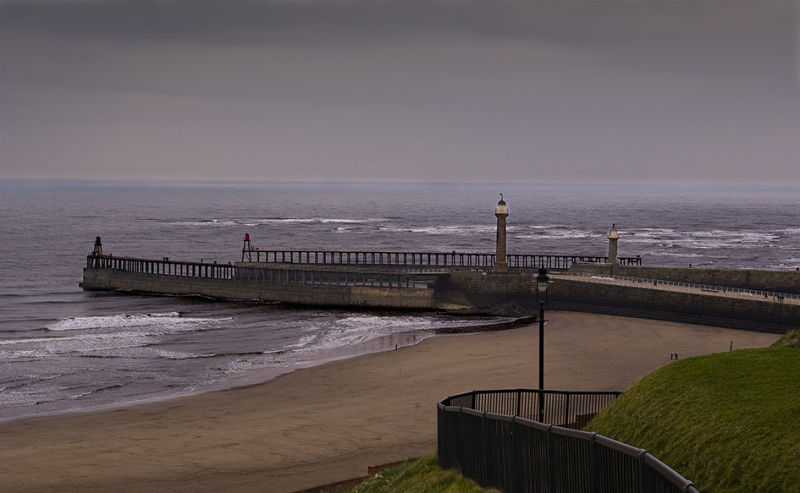 Whitby Pier Lighthouses