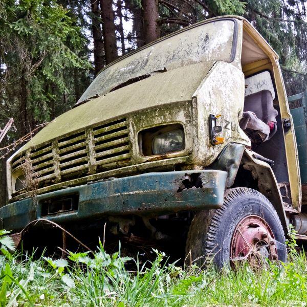 alter Lastwagen in Lasberg
