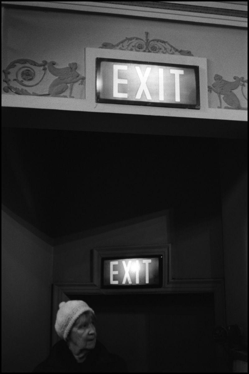 lady exit