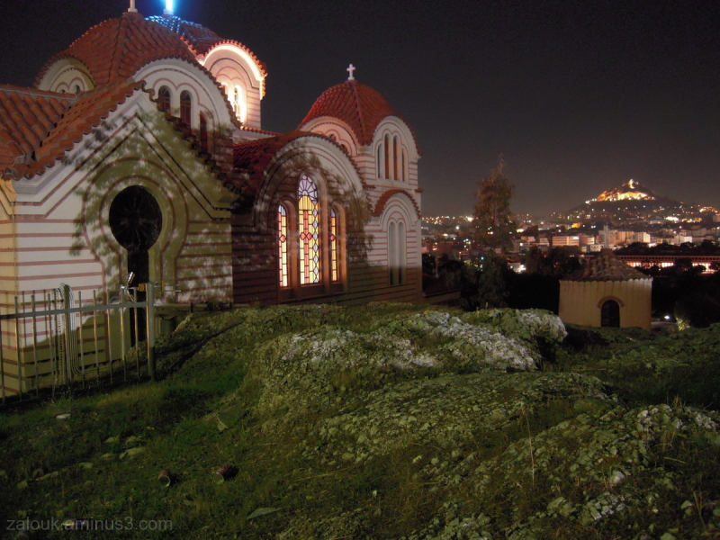 A church opposit to Lecabettus hill in Athens