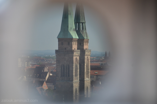 A reflection from the castle of Nurenberg